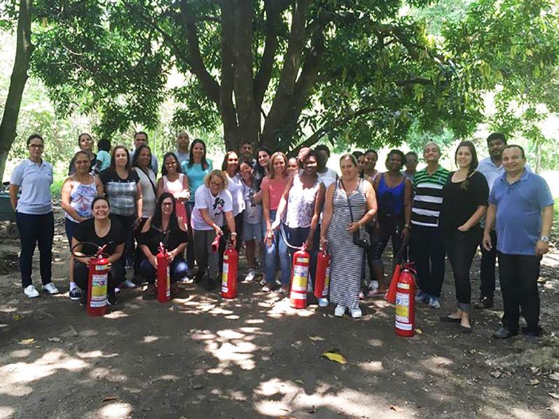Junta de Ação Social Carioca promove treinamento básico de combate a incêndio